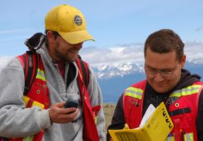 Geologische Exkursion im Rahmen einer Field School