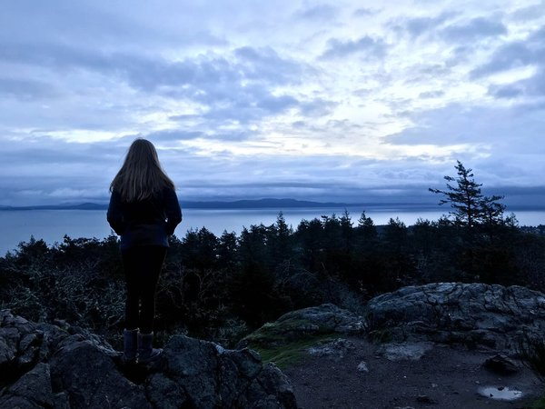 Hike auf den Mount Douglas am frühen Morgen