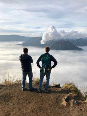 On top of the world im Auslandssemester: Maik am Mount Bromo.