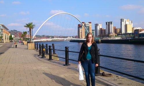 Die Millenium Bridge an der Quayside