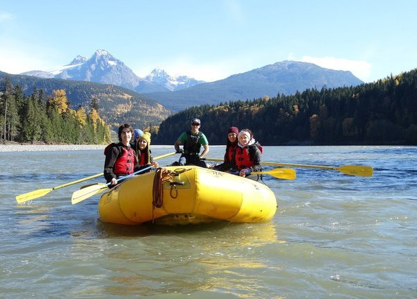 Rafting auf dem Skeena River