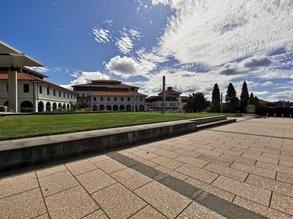 Während der Quarantäne war das Campusleben ein anderes. Dafür konnte Linus sich voll und ganz auf sein Studium konzentrieren