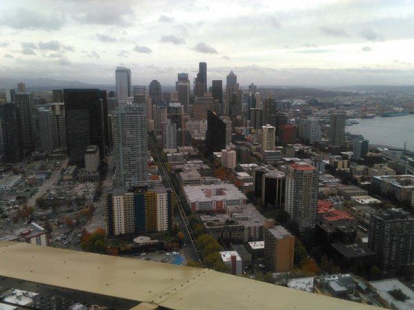 Blick auf Seattle vom Space Needle aus