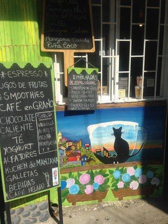 Bunte Cafés in Valparaíso