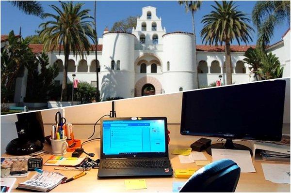 Im Online-Auslandssemester gibt es für Matilda, Andreas und Sebastian den heimischen Schreibtisch statt Sonne und Palmen vor Ort