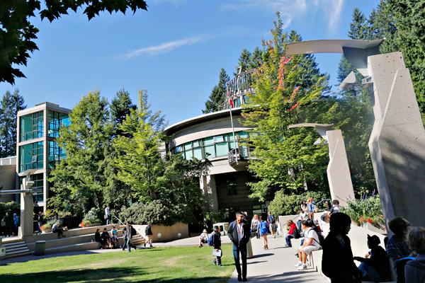 Die moderne Capilano University in Vancouver
